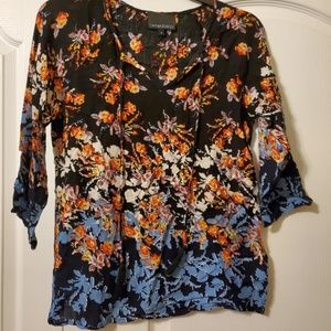 #233 Cynthia Rowley Floral Blouse Size Small